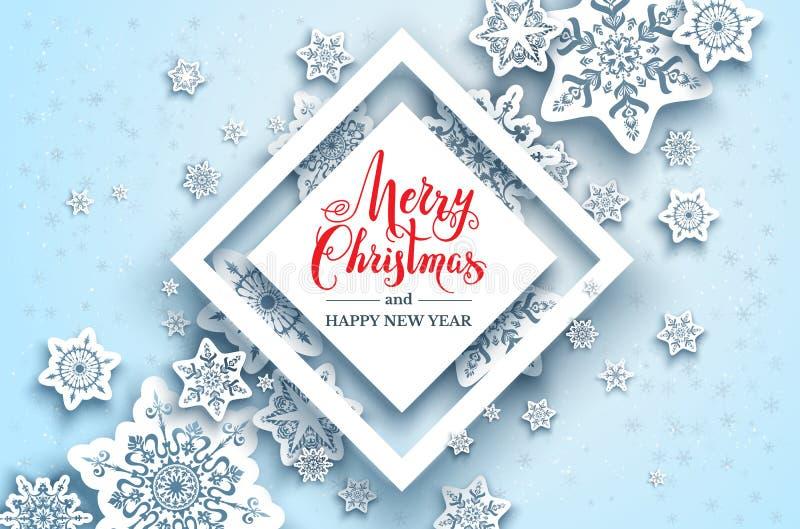 Download Festliche Schneeflockenhintergrundgeometrie Vektor Abbildung - Illustration von formular, feiertag: 106804731