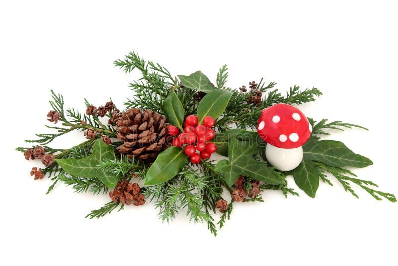 Festliche winter dekoration stockbild bild von tanne anordnung 73496517 - Dekoration winter ...