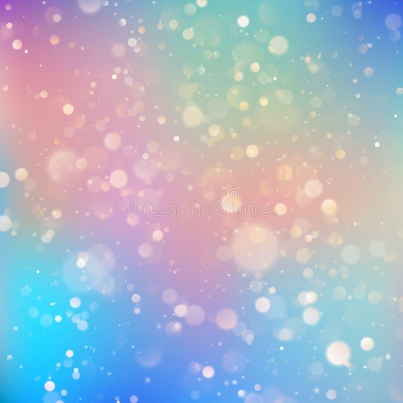 Festlicher defocused Lichteffekt Abstrakter bokeh Hintergrund ENV 10 vektor abbildung