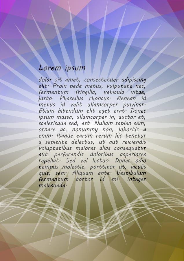 Festlicher goldener abstrakter Hintergrund mit großem Stern in den goldenen und Pastellfarben, gewellte Kurven, Kopieraum, undeut lizenzfreie abbildung