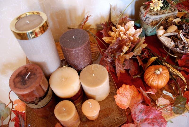 Festlicher Herbst-Dekor stockbild
