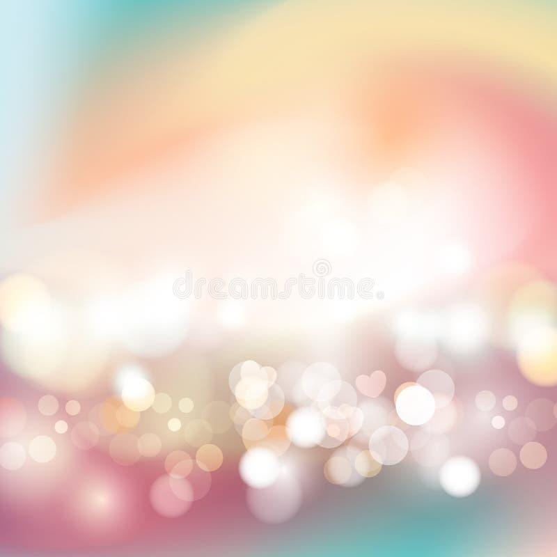 Festlicher Hintergrund mit defocused Lichtern stock abbildung