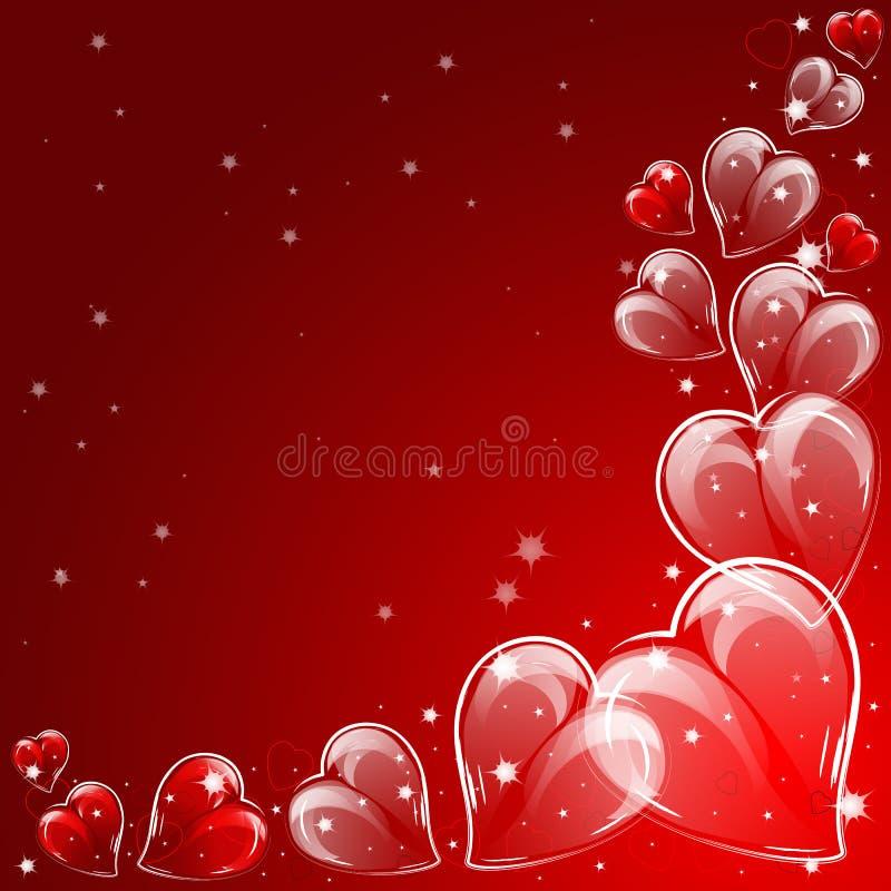 Festlicher Hintergrund mit Herzen am Valentinstag 14. Februar Tag für alle Liebhaber lizenzfreie abbildung