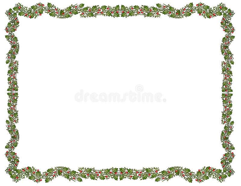 Festlicher Stechpalme-Rand stock abbildung