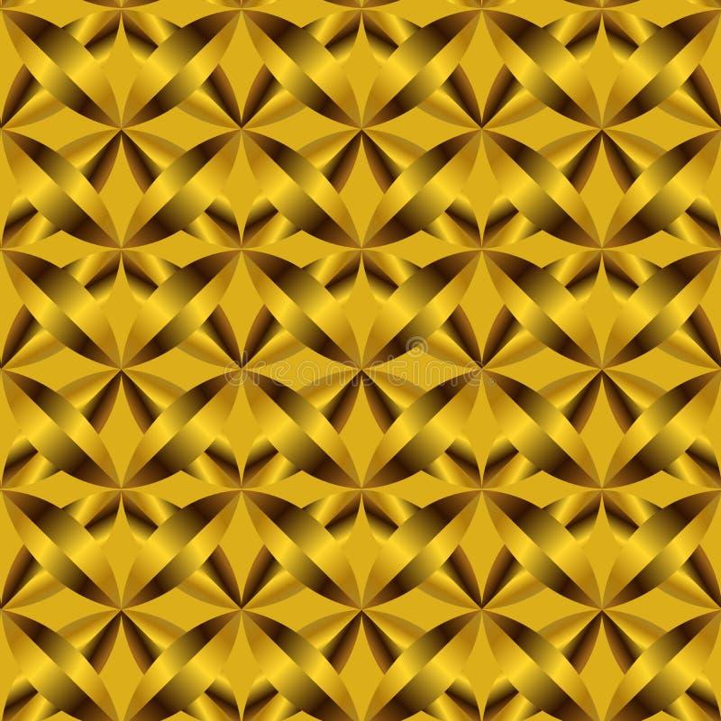 Festliches goldenes braunes Luxusmuster und Hintergrund lizenzfreie abbildung