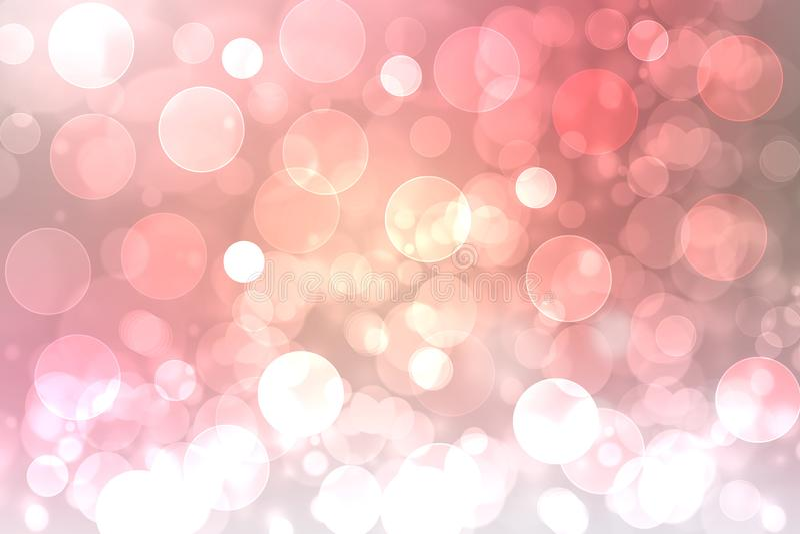 Festliches rosa helles abstraktes Bokeh, bunte Steigung defocused und Pastell gefärbt Schöne Beschaffenheit lizenzfreie abbildung