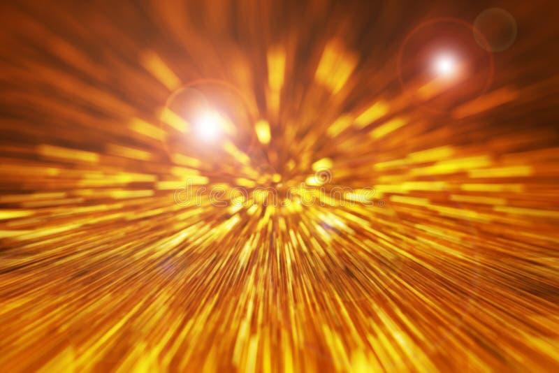 Festlig bakgrund med naturlig bokeh och ljusa guld- ljus Magisk bakgrund med färgrik bokeh royaltyfri fotografi