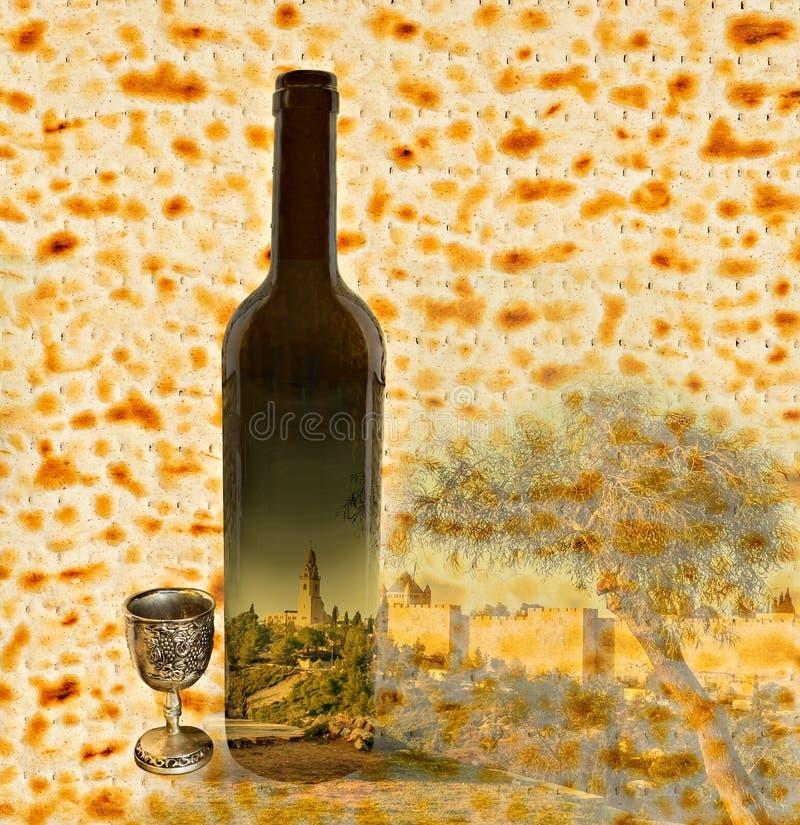 Festlig collage för judisk påskhögtid arkivbilder