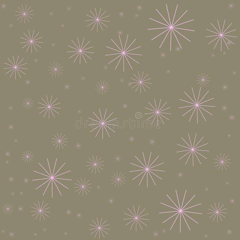 Festlig dekorkortmall Digitalt papper för etnisk stil Skinande stjärnor på bakgrund royaltyfri illustrationer