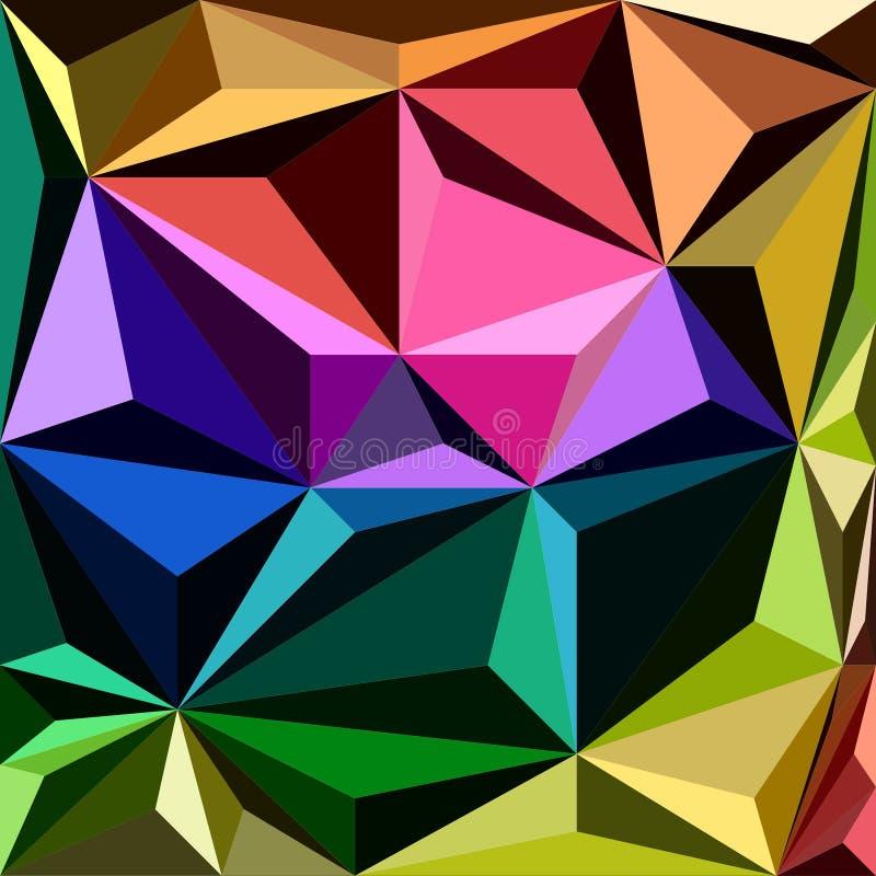 Festlig färgrik bakgrund med trianglar arkivbilder