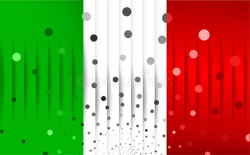 Festlig flagga av Italien stock illustrationer