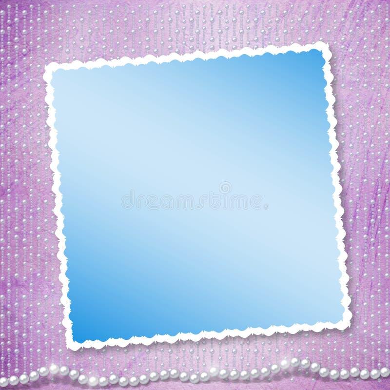 Festlig inbjudan eller lyckönskan för ett bröllop royaltyfri illustrationer