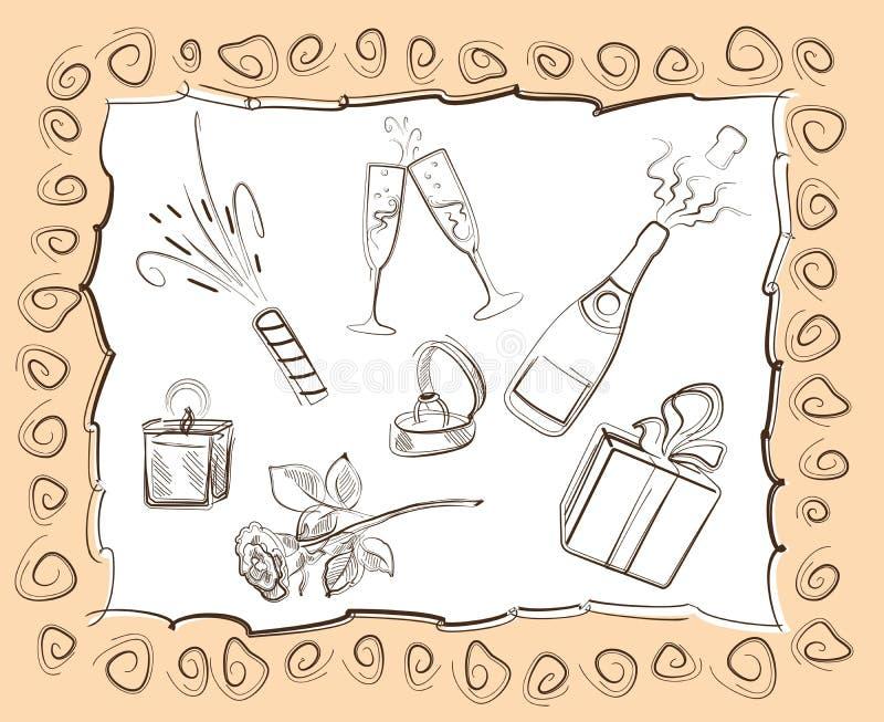 festlig mood royaltyfri illustrationer