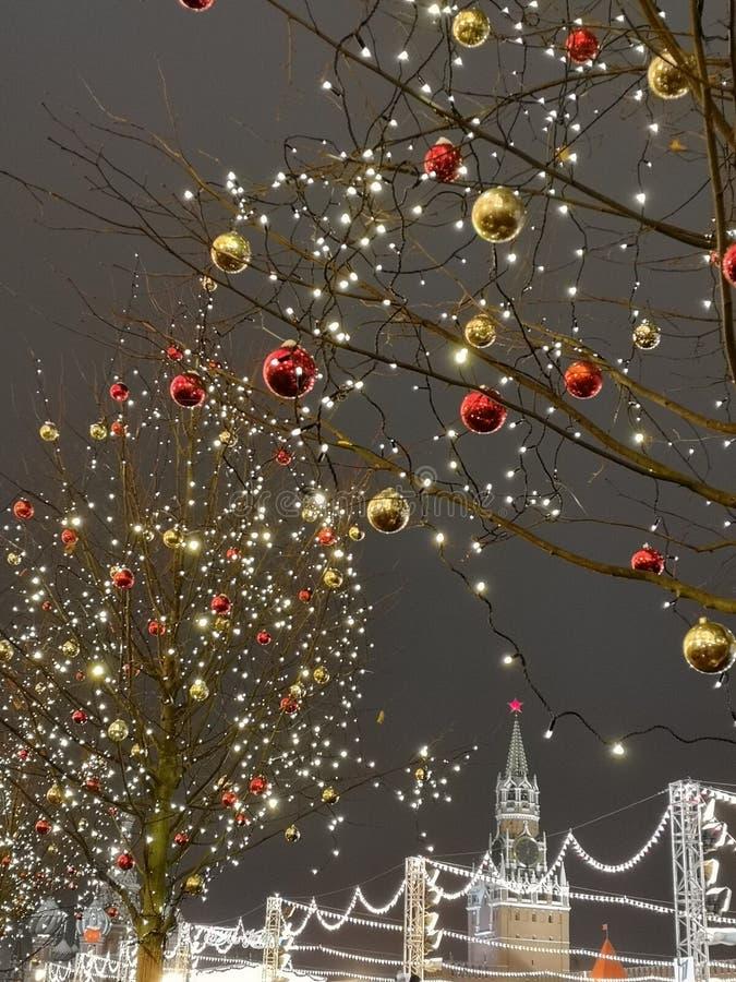 Festlig Moskva royaltyfri bild