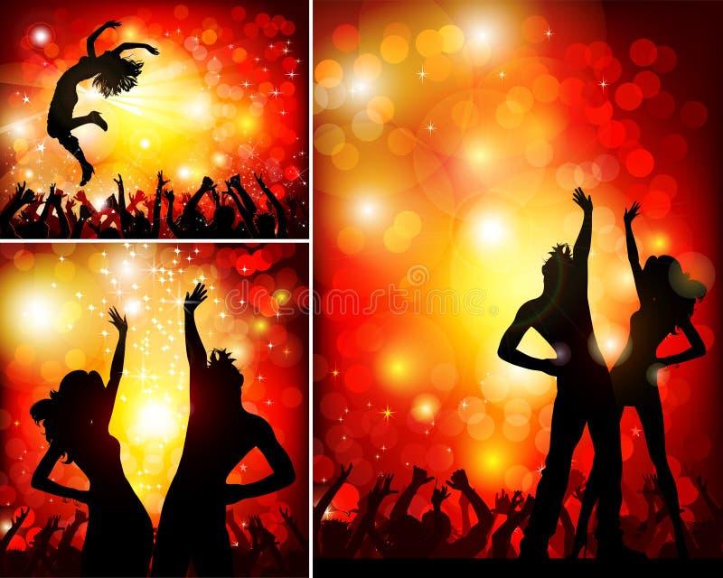 festlig nattklubbdeltagare royaltyfri illustrationer