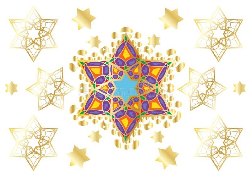 Festlig orientalisk prydnad stock illustrationer