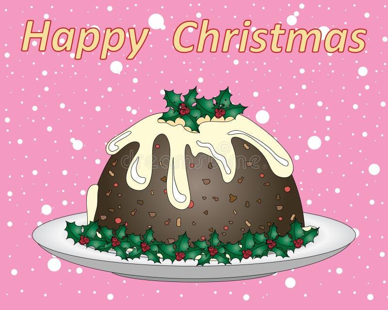 festlig pudding stock illustrationer