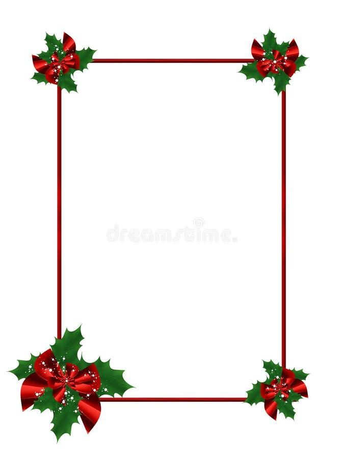 festlig ram för jul vektor illustrationer