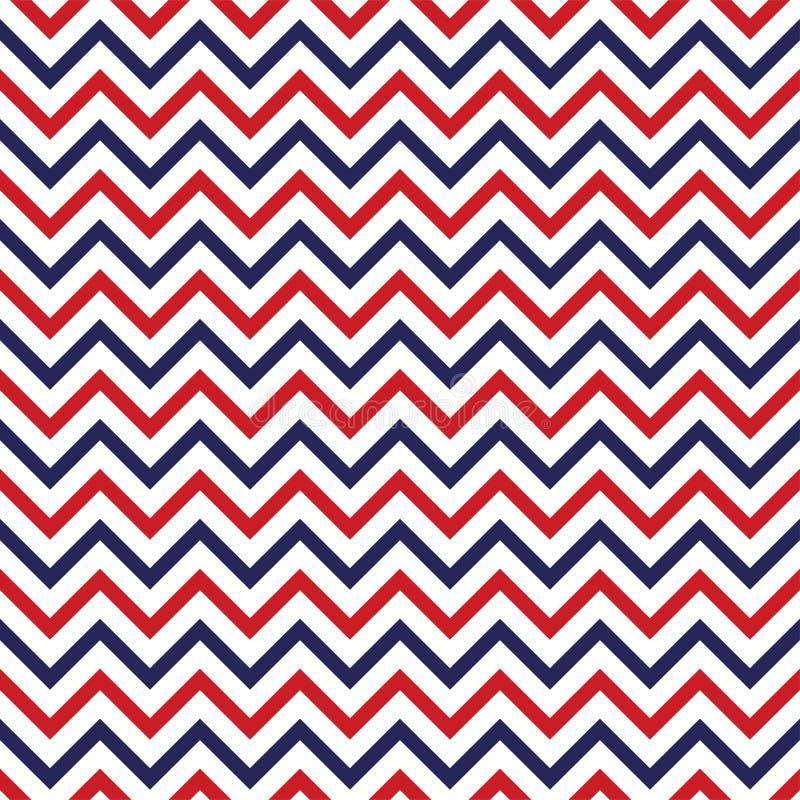 Festlig sömlös bakgrund i för USA för nationella färger blått röda vit Remsor och stjärnor, stor idé för fyrverkerier för att dek vektor illustrationer