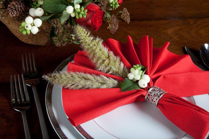 festlig servett för 2 jul royaltyfria foton