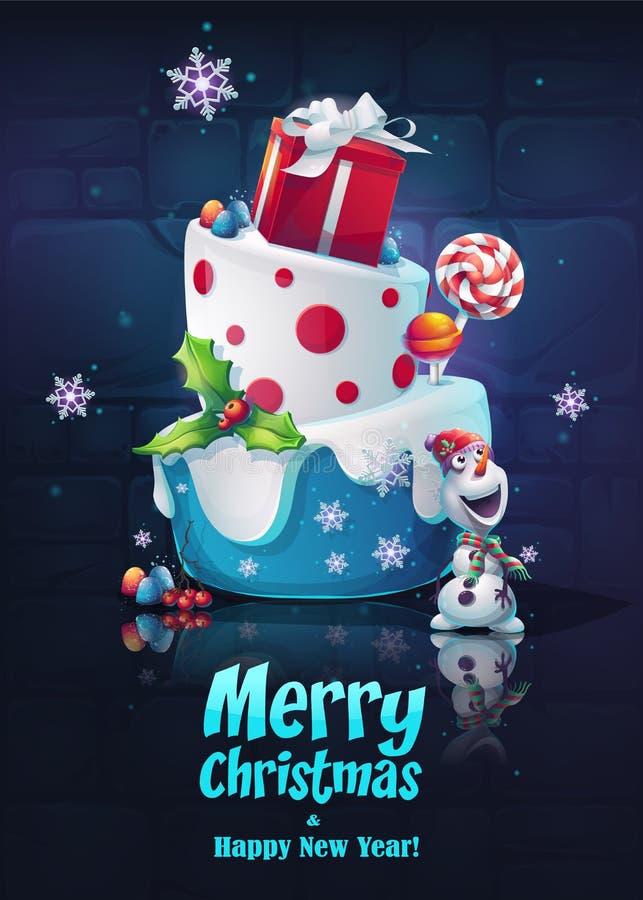 Festlig uppsättning - lyckligt nytt år Den ljusa bilden som skapar den original- videoen eller rengöringsduk, spelar, den grafisk stock illustrationer