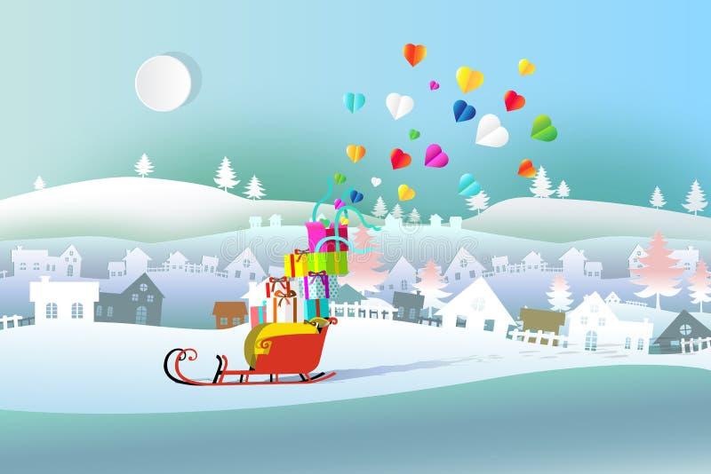 Festliga askar av julklapp med bandpilbågen vektor illustrationer