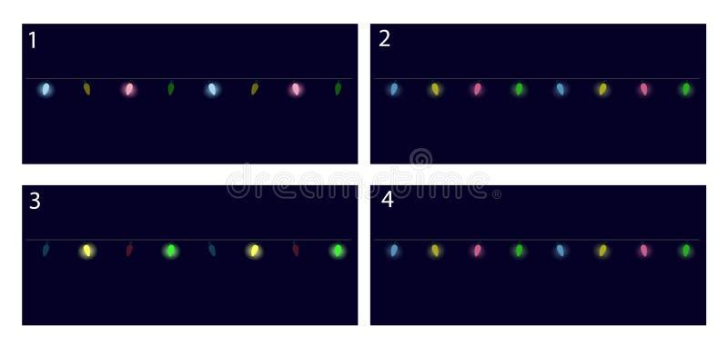 Festliga garneringar för julljus stock illustrationer