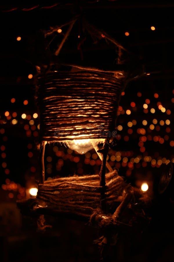 festliga lampor arkivbild
