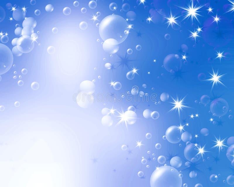 Festliga luftbubblor stock illustrationer