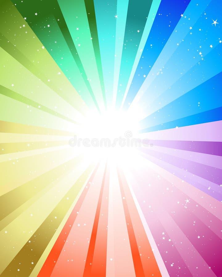 festliga strålar för färg royaltyfri illustrationer