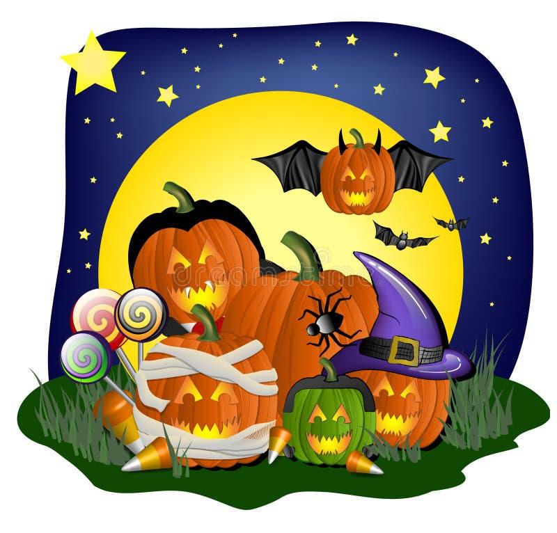 festligt diagram halloween royaltyfri illustrationer