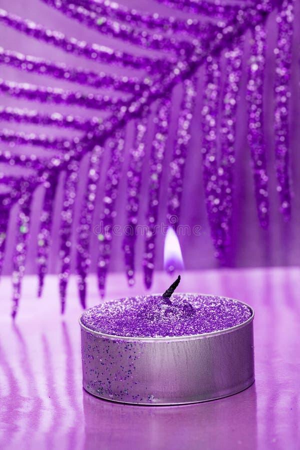 festligt nytt år för stearinljus royaltyfri bild