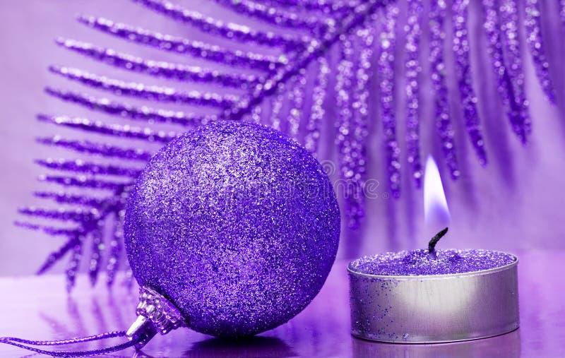 festligt nytt år för stearinljus royaltyfri fotografi