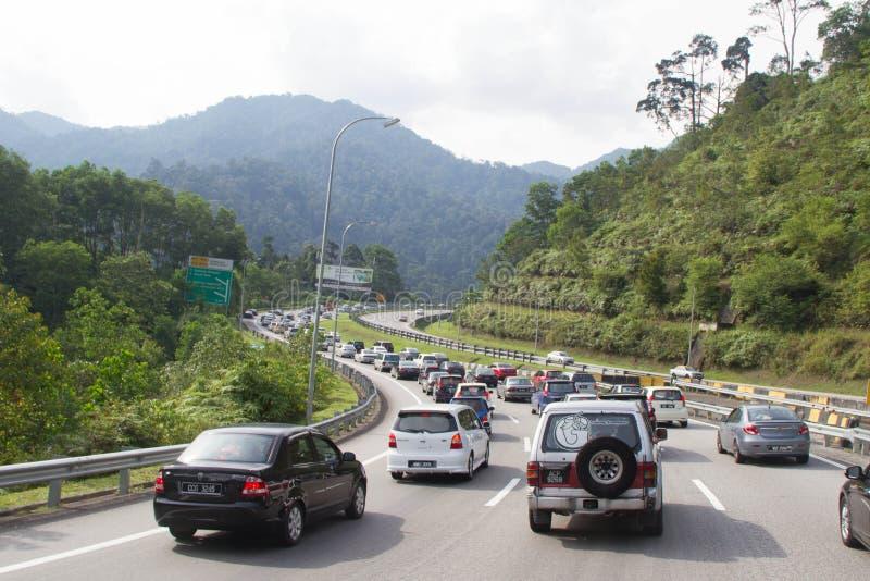 Festligt trafikera läget royaltyfri bild