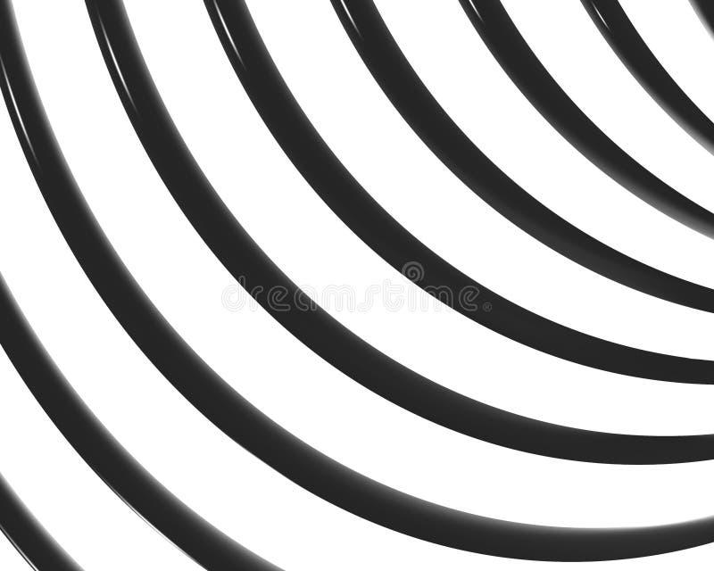 Feston optique 01 de courbes de spirale d'art illustration stock