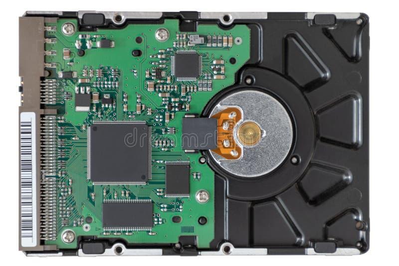 Festplatte auf wei?em Hintergrund stockbild