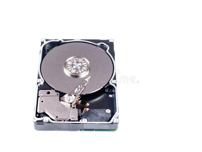 Festplatte Dämpfungsreglers gelesen und Schreibkopf im Makroschuß lizenzfreie stockfotos
