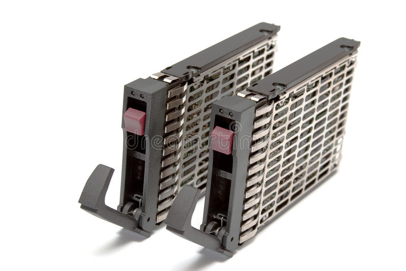 Festplatte mit zwei Servers stockfoto