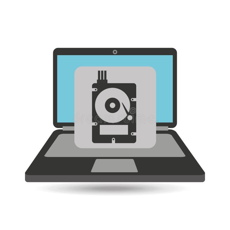 Festplattenlaufwerk der Computeranalyse-Daten lizenzfreie abbildung