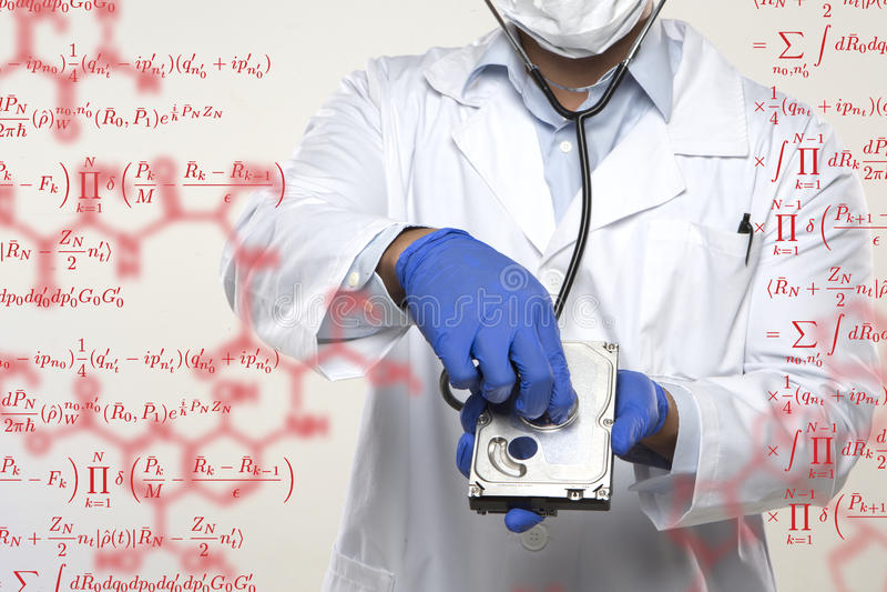Festplattenlaufwerk-Doktor stockfoto