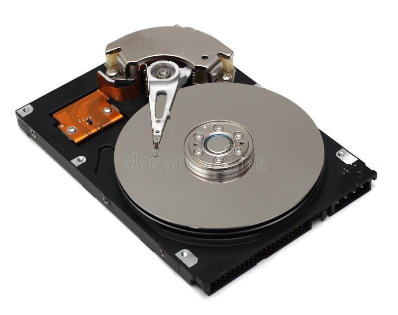 Festplattenlaufwerk getrennt auf Weiß stockfotografie