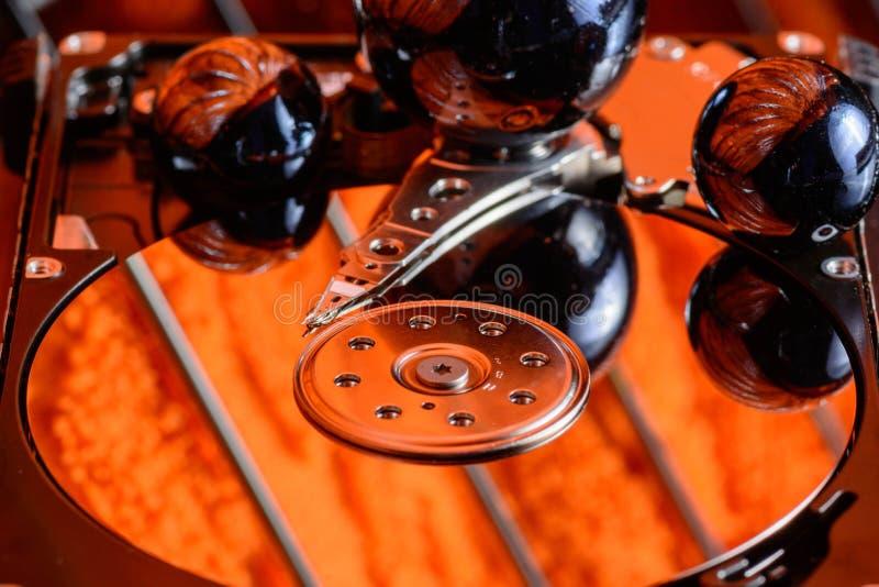 Festplattenlaufwerk hdd digitale Multimediaelektronik stockfoto