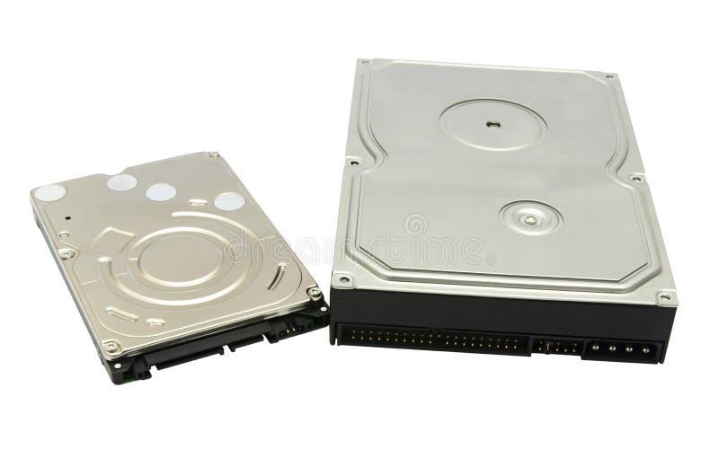Festplattenlaufwerk lokalisiert auf weißem Hintergrund stockbild