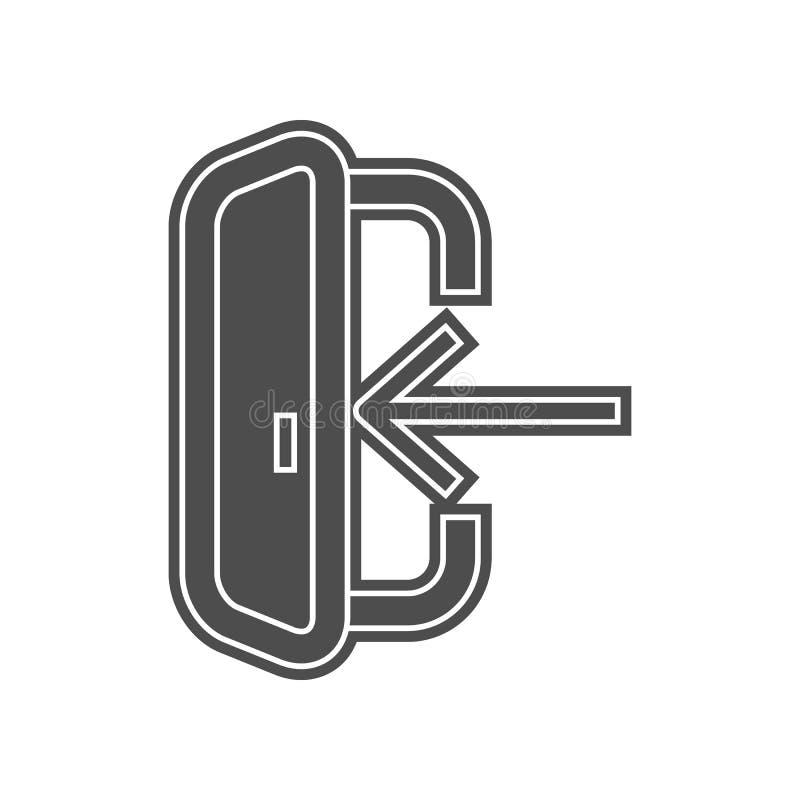 Festplattenverbindungsikone Element von minimalistic f?r bewegliches Konzept und Netz Appsikone Glyph, flache Ikone f?r Websiteen stock abbildung