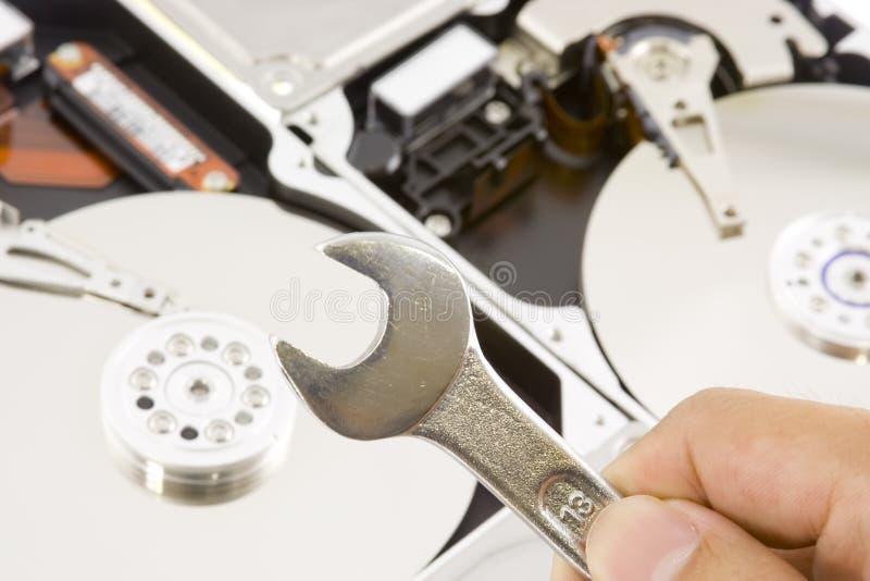 Festplattereparatur lizenzfreies stockfoto