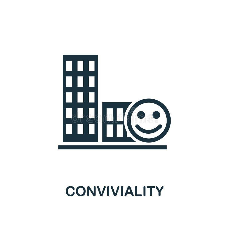Feststämningsymbol Högvärdig stildesign från urbanismsymbolssamling UI och UX Perfekt feststämningsymbol för PIXEL för rengörings vektor illustrationer