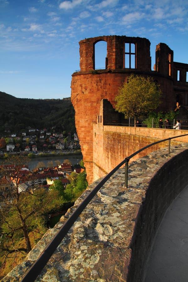 Festung海得尔堡 免版税库存图片