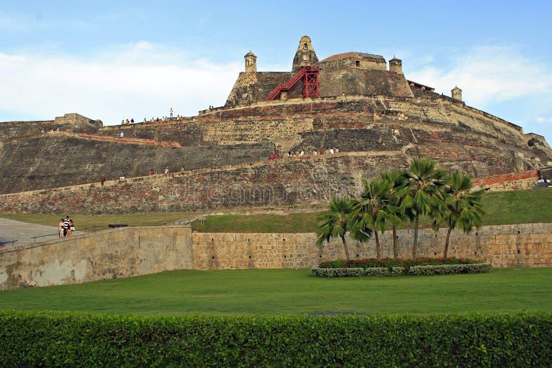 Festung in Cartagena, Kolumbien lizenzfreies stockfoto