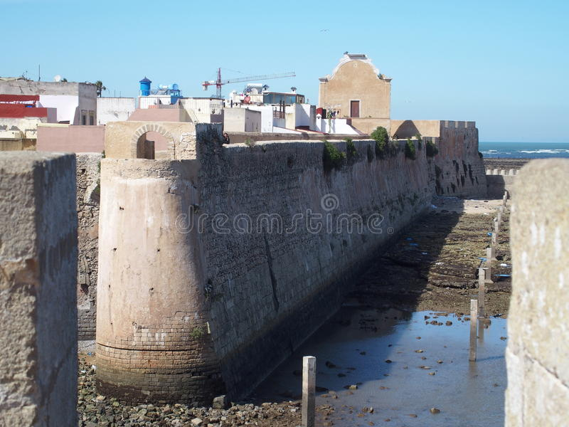 Festung in EL Jadida in Marokko lizenzfreie stockfotos