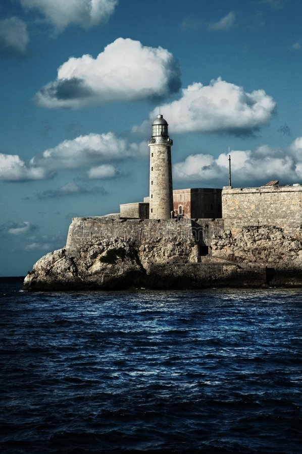 Festung ?EL-Morro? im Havana-Schacht lizenzfreie stockbilder